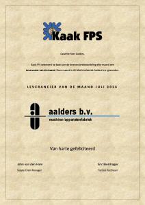 2016 LvdM certificaat Aalders